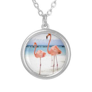 Flamingo Stroll Custom Necklace