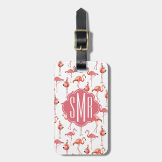 Flamingo Summer | Monogram | Luggage Tag