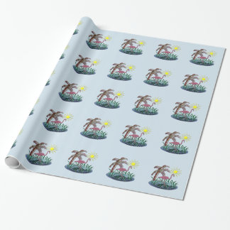 Flamingo Sunny Days Wrapping Paper
