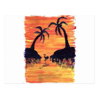 Flamingo Sunset Post Cards