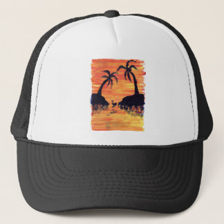Flamingo Sunset Trucker Hat