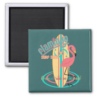 Flamingo Surf Shop Magnet