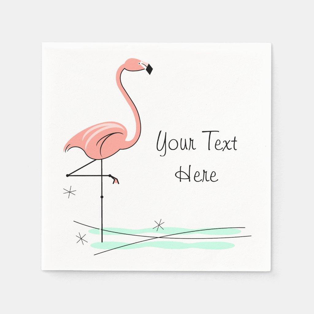 Flamingo Text paper napkins Paper Napkin