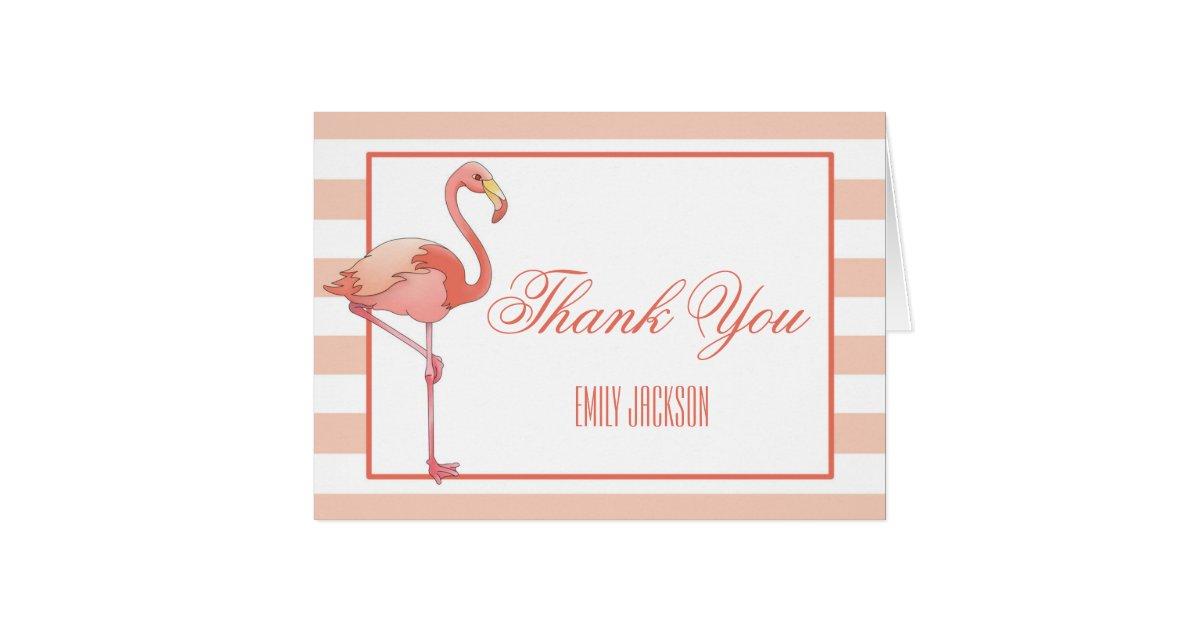 Best Flamingo Thank You Card   Zazzle.co.uk ZG05