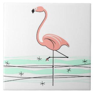 Flamingo tile reverse