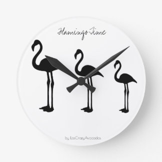 Flamingo Time Minimalistic Wall Clock