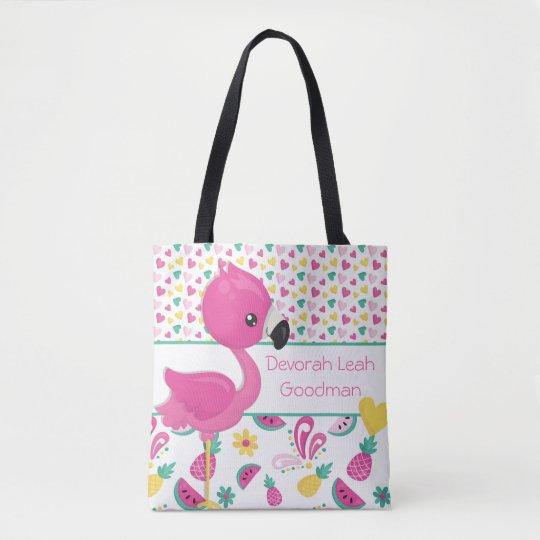 Flamingo tote bag - personalised