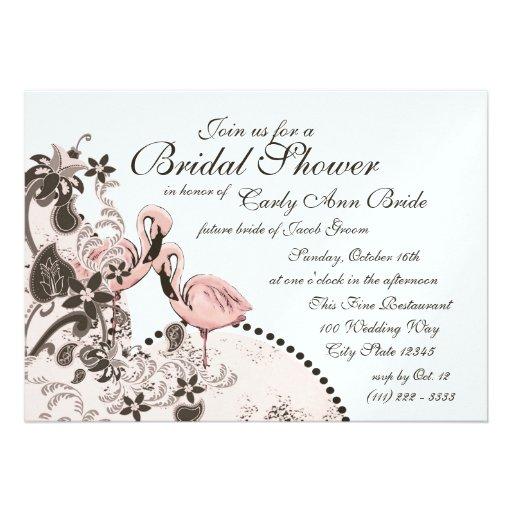 Flamingo Tropical Bridal Shower Invite