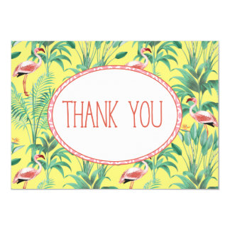 Flamingo Tropical Forest Thank You card