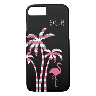 Flamingo Tropical Monogram iPhone 8/7 Case