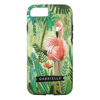 Flamingo Tropics Jungle Tropical | Iphone 7 Case