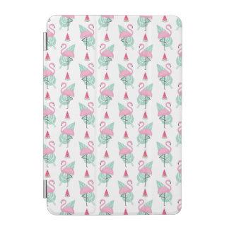 Flamingo & Watermelon Pastel Pattern iPad Mini Cover