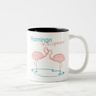 Flamingo Whisperer Two-Tone Coffee Mug