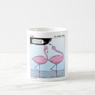 flamingo yoga basic white mug
