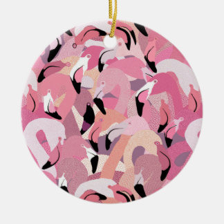Flamingoes in Pink Ornament