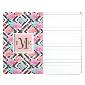 Flamingoes on Bold Design Pattern Journal