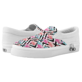 Flamingoes on Bold Design Pattern Slip On Shoes