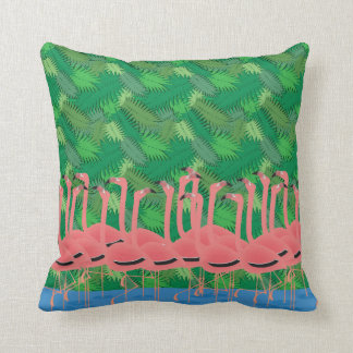 Flamingoes on Parade Cushion
