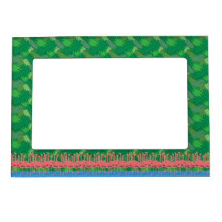 Flamingoes on Parade Magnetic Frame