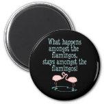 Flamingos 6 Cm Round Magnet