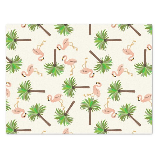 Flamingos And Palm Trees Tissue Paper