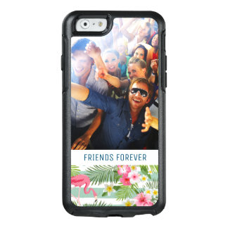 Flamingos And Stripes | Add Your Photo & Text OtterBox iPhone 6/6s Case