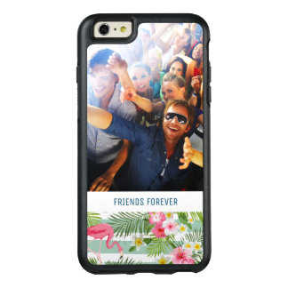 Flamingos And Stripes | Add Your Photo & Text OtterBox iPhone 6/6s Plus Case