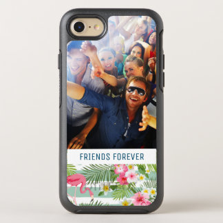Flamingos And Stripes | Add Your Photo & Text OtterBox Symmetry iPhone 8/7 Case