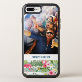 Flamingos And Stripes | Add Your Photo & Text OtterBox Symmetry iPhone 8 Plus/7 Plus Case