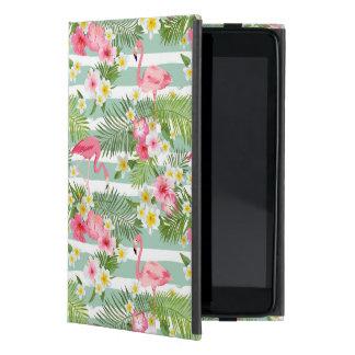 Flamingos And Stripes iPad Mini Case