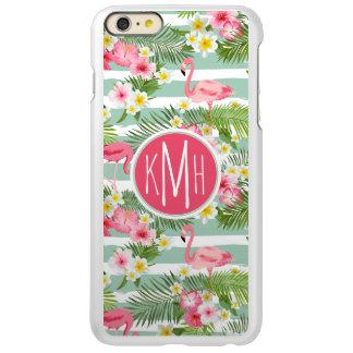 Flamingos And Stripes | Monogram iPhone 6 Plus Case