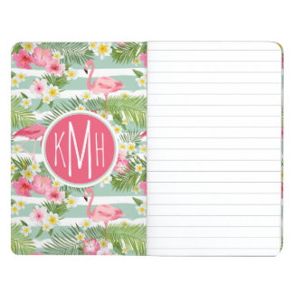 Flamingos And Stripes   Monogram Journal