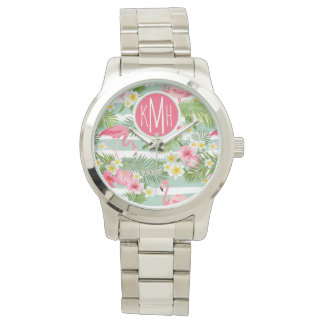 Flamingos And Stripes | Monogram Watch