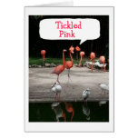 "FLAMINGOS ARE ""TICKLED PINK"" IT IS YOUR BIRTHDAY GREETING CARD"