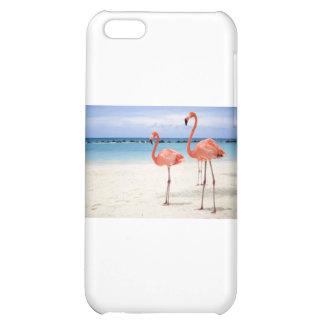 Flamingos at the Beach iPhone 5C Cases