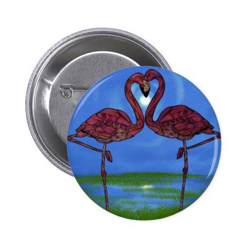 Flamingos Pinback Buttons