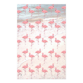 Flamingos Beach Patterned Scrapbook Paper