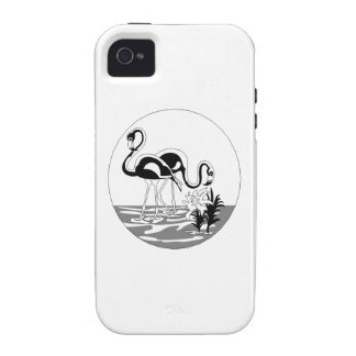 Flamingos Vibe iPhone 4 Covers