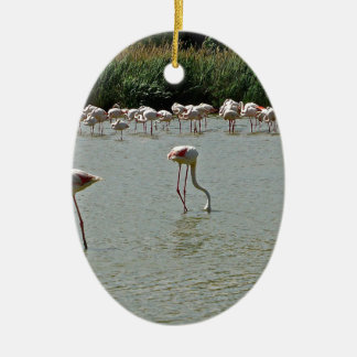 Flamingos Ceramic Oval Decoration