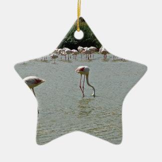 Flamingos Christmas Ornament