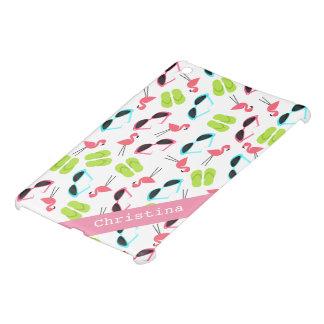 Flamingos & Flip Flops Personalized iPad Mini Case