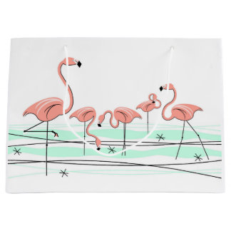 Flamingos Group gift bag large