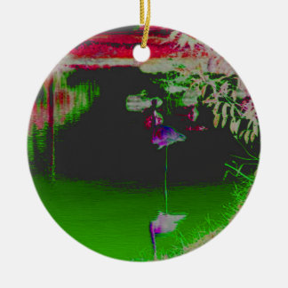 Flamingo's in Colour Christmas Ornament