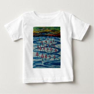 Flamingos in salty lake baby T-Shirt
