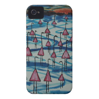 Flamingos in salty lake iPhone 4 cases