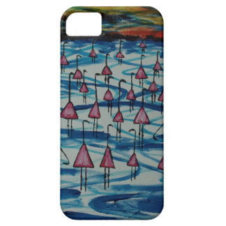Flamingos in salty lake iPhone 5 cover