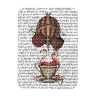 Flamingos in Teacup Rectangular Photo Magnet