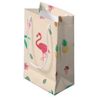 Flamingos in the Summer Small Gift Bag