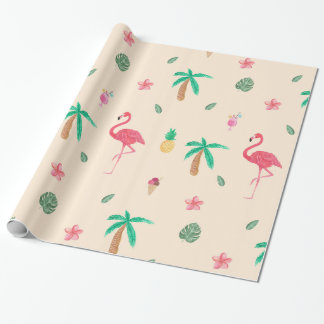 Flamingos in the Summer Wrapping Paper