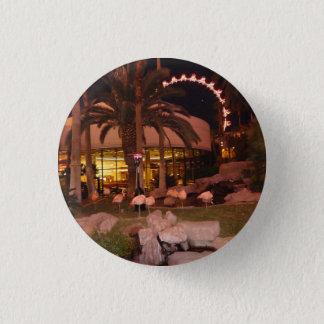 Flamingos, Las Vegas Keychain 3 Cm Round Badge
